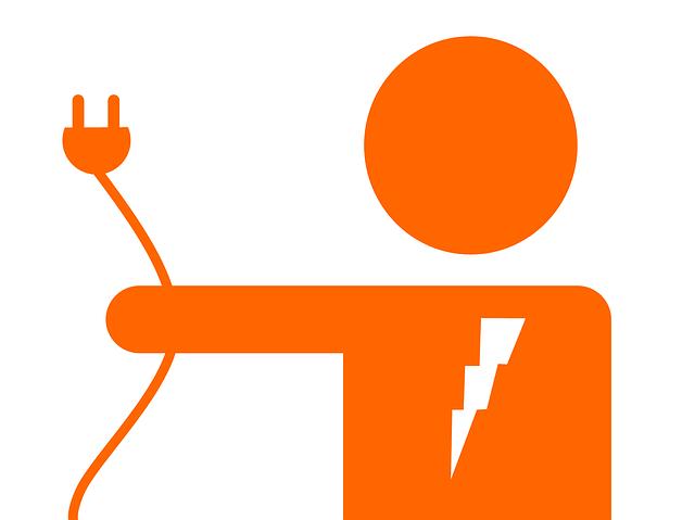 elektrikář se zástrčkou