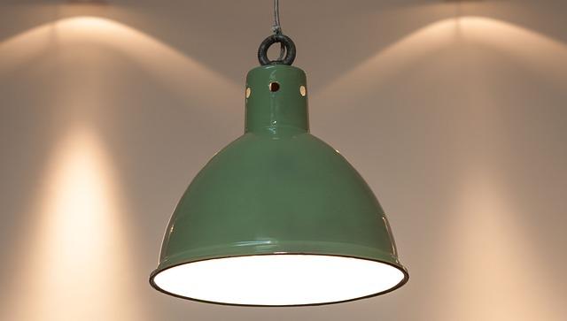 Zelené stropní svítidlo